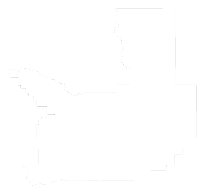 An outline of Missoula County