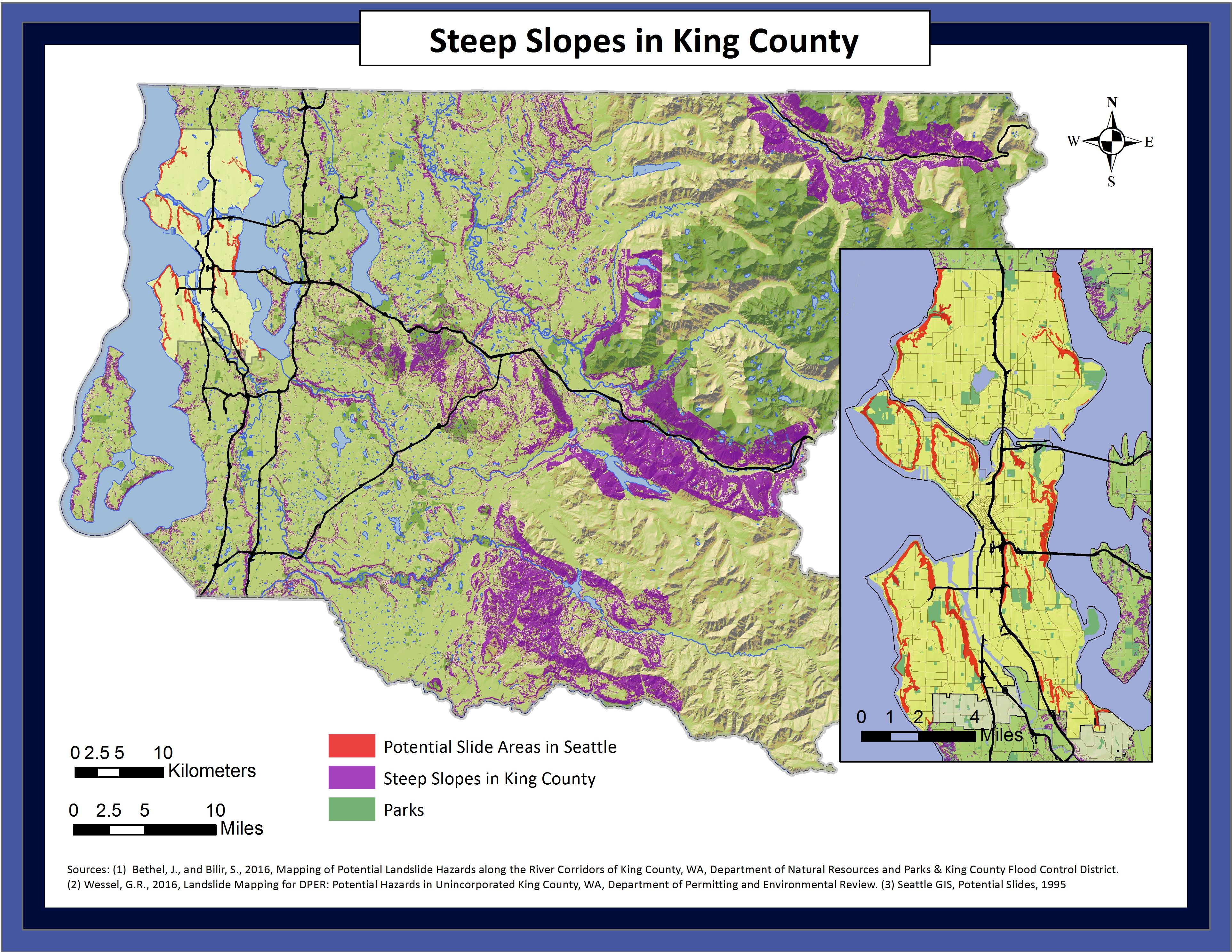 king county topo map, king county parcel search, king county landslide hazard map, king county demographics map, on king county gis map